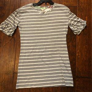 Matilda Jane Gray And White Stripes Shirt